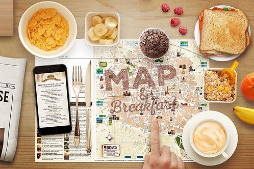 """500 tovagliette """"Map and Breakfast"""""""