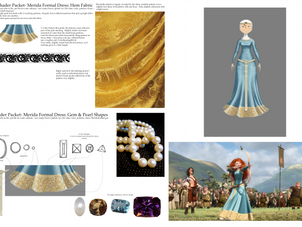 Shader Packet: Merida's Formal Gown Details