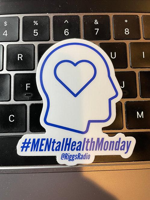 Mental Health Monday HeartHead Sticker Blue