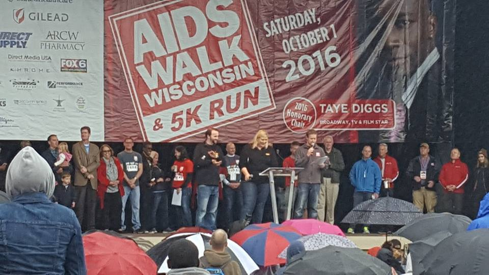 Aids Walk stage wide