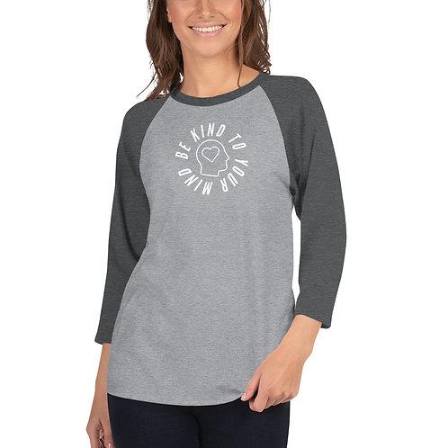 Women's 3/4 Sleeve - Be Kind Heart Head Full Print