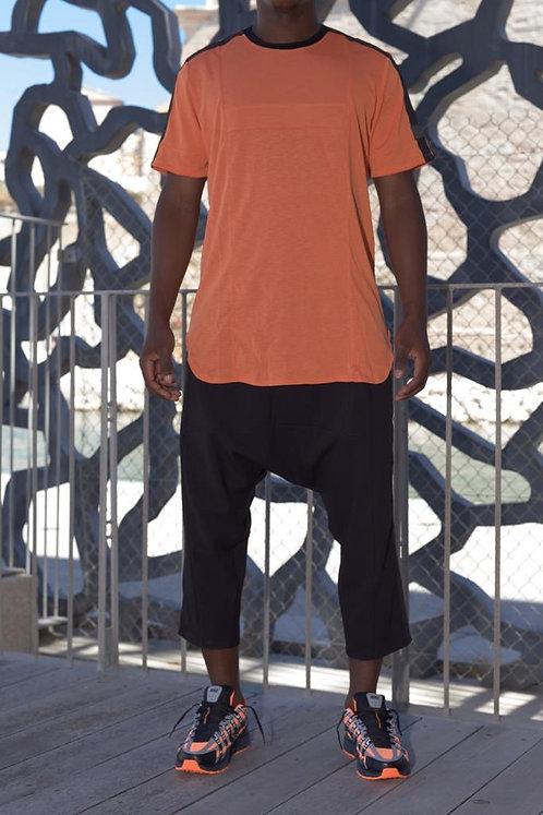 T-shirt à bande Orangé