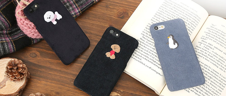 Design skins corduroy bukle bartype case for iPhone X