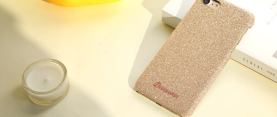 Design skins glitter bartype case for iPhone X