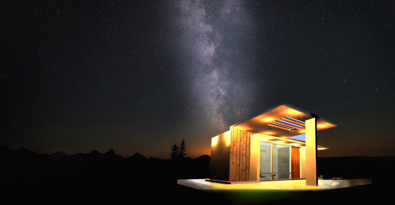 Container house night
