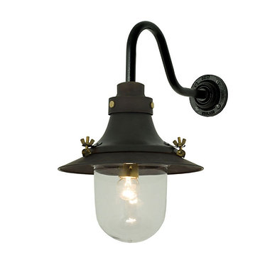Davey Lighting Small Decklight, Swan Neck Bracket