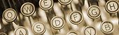 Veracity Content: vintage typewriter keys