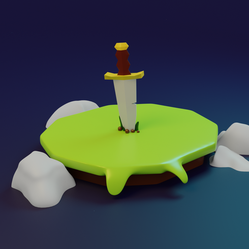 Cartoon themed sword