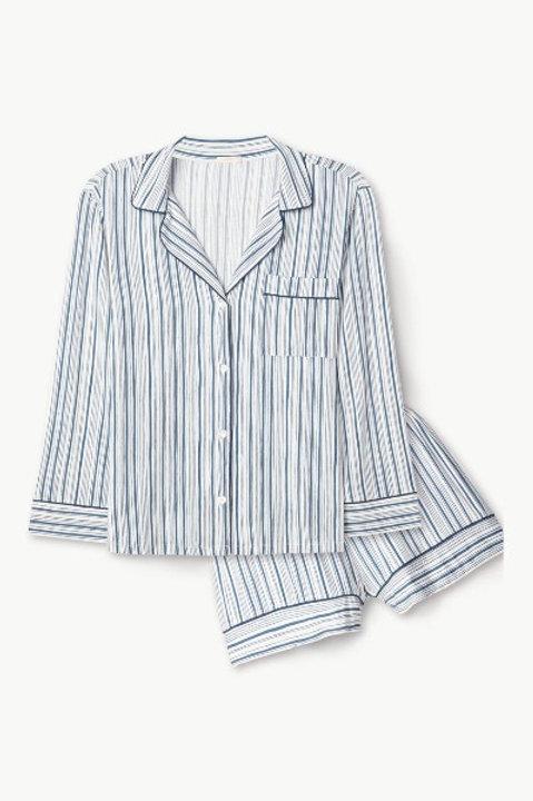 Eberjey Gisele Printed Long Sleeve and Short PJ Set