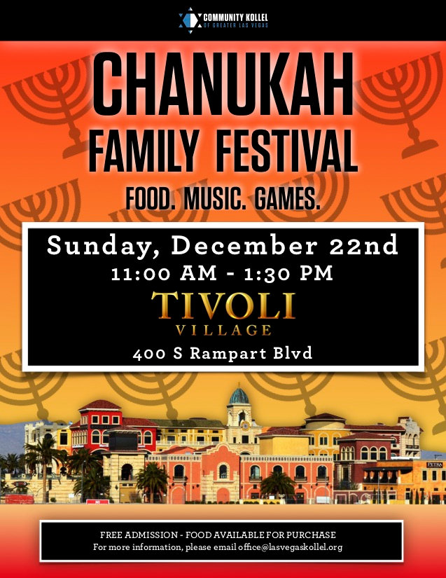 Chanukah Festival at Tivoli village 5780