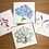 Thumbnail: Botanical Florals Four Card Set