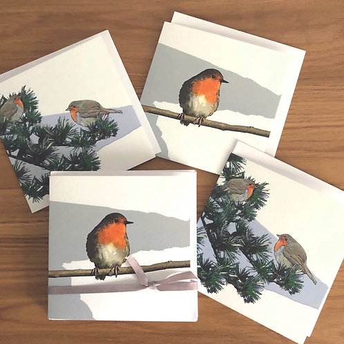 Classic Winter  Robins Christmas Card Pack