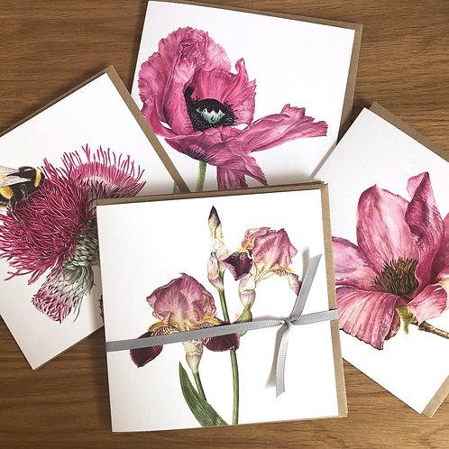 Mixed Floral Watercolour Botanical Art Card Pack