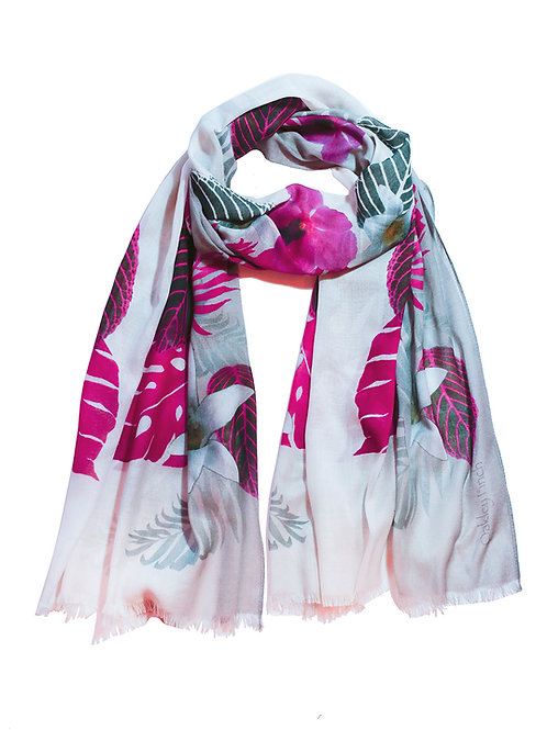 Tropical Pink Orchid Scarf
