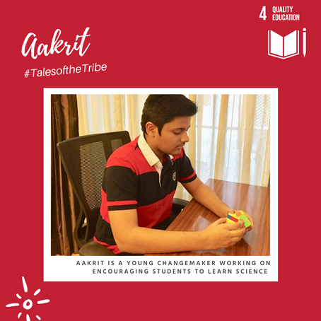 Tales of the Tribe: Aakrit's Literacy Project of Creating STEM Modules for Underprivileged Kids