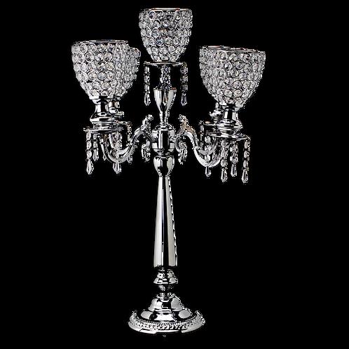 Crystal Candelabra | silver