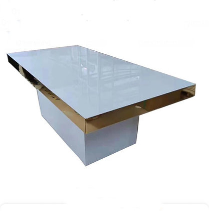 Sweetheart Table White and Gold Trim