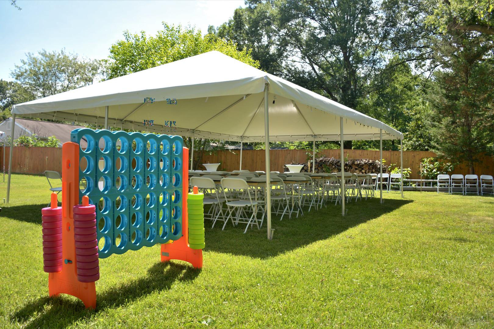 Backyard Tent & Games