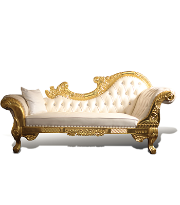 White and Gold Lounge Sofa