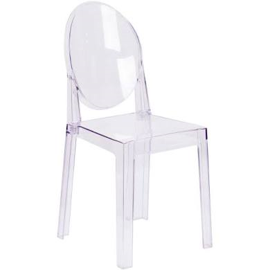 Clear Ghost Style Chair- Armless