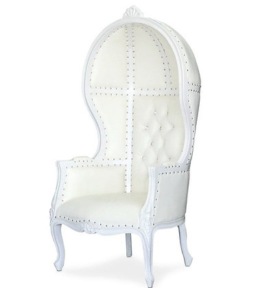 All White Dome Throne Chairs