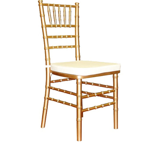 Gold Chiavari Chair | Ivory Cushion