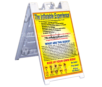 Inflatable Experience Sign