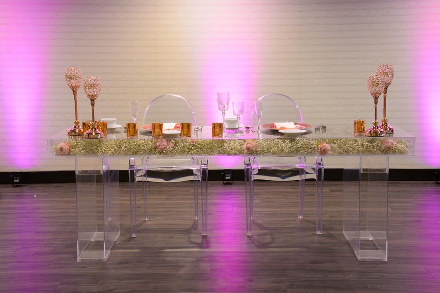 Acyrlic Sweetheart Table