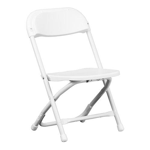Little Kids Plastic Folding Chair | White
