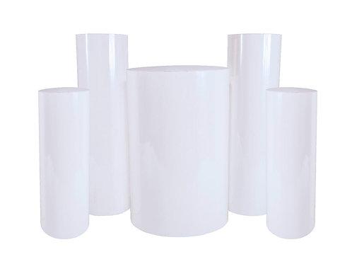 White Round Pedestals