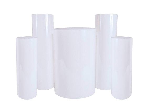 White Cylinder  Pedestals