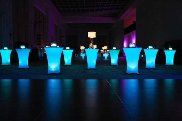 led light cocktail Tables