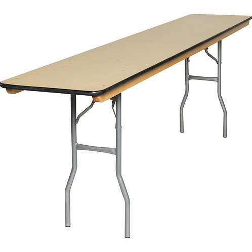 Rectaglar Seminar Table | 8 ft Longs (18X96)