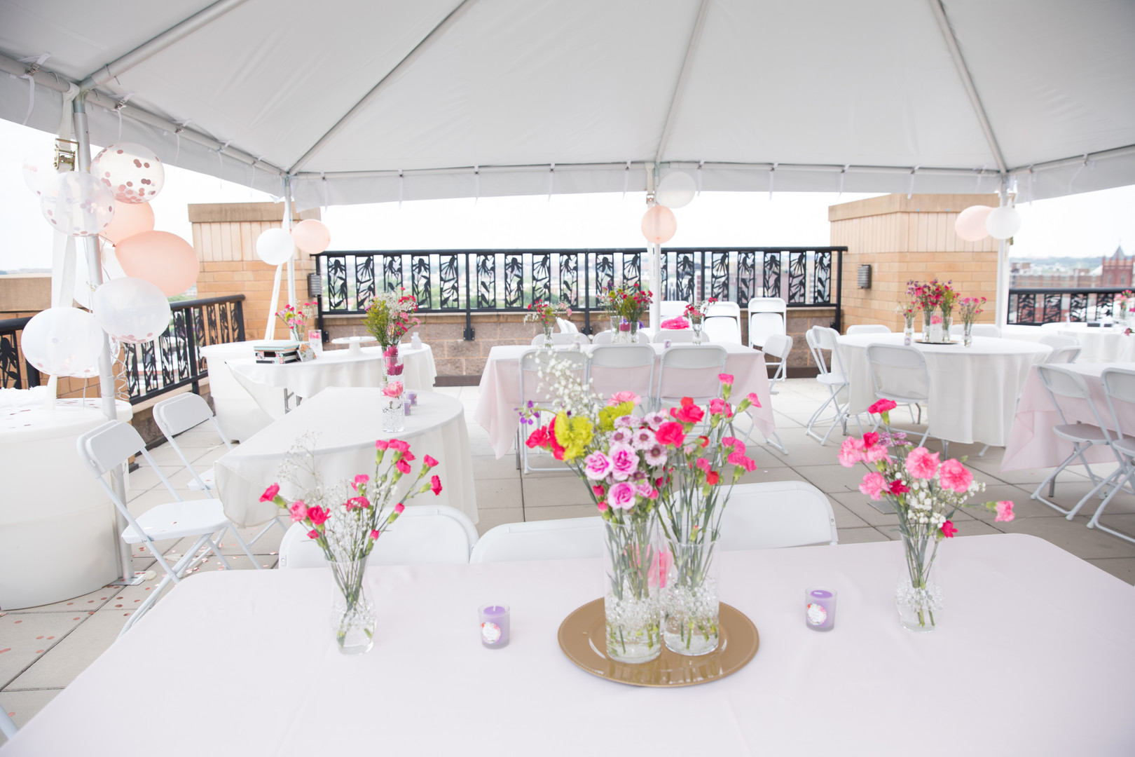 Bridal Shower Rooftop Tent