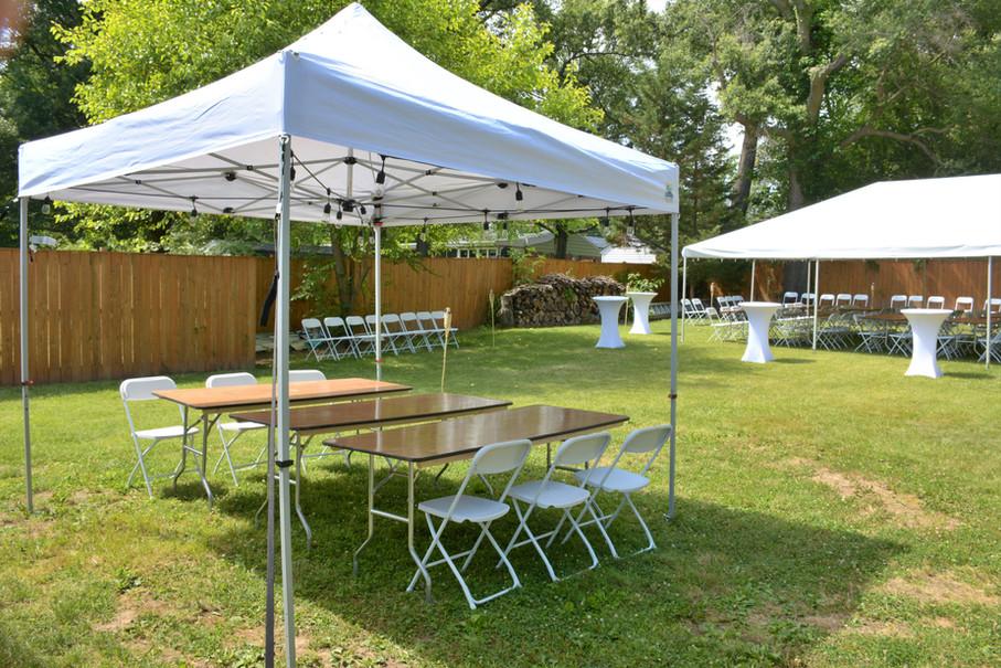 10x10 Tent Backyard Event