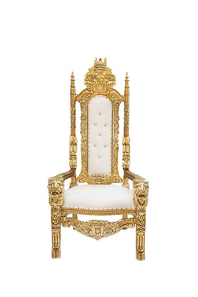 Gold and White Throne Chairs
