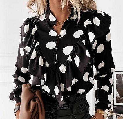 blusa lunares negra