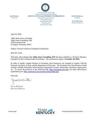 Kentucky WBE (Women's Business Enterprise)