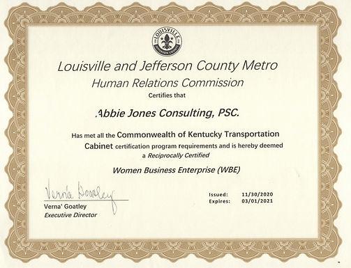 Louisville Metro WBE