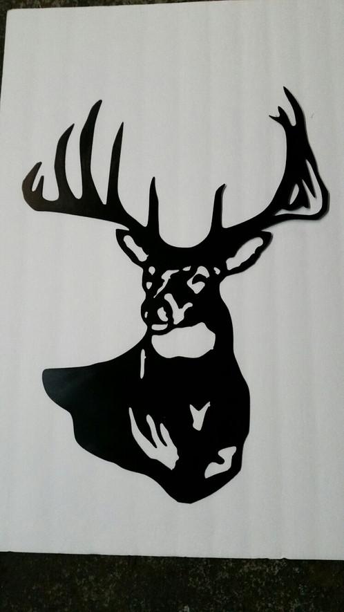 Emblem Deer Head Side