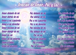 Oración de Amor Paz y Luz