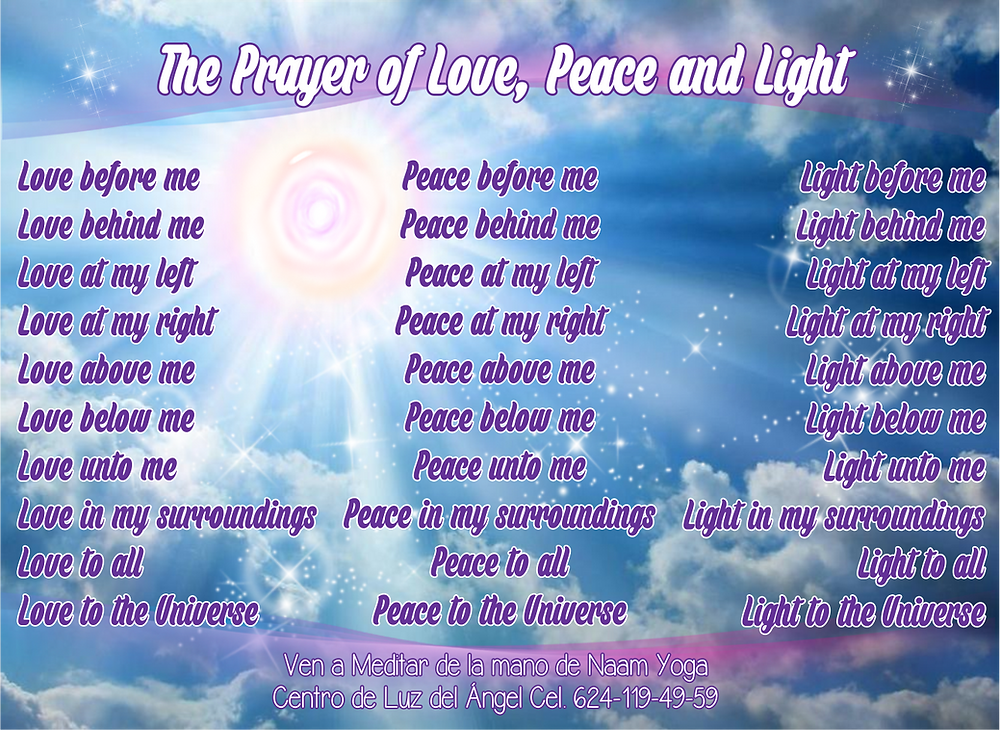Prayer of Love, Peace and Light