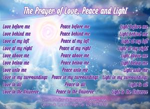Prayer of Love, Peace and Light
