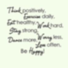 happy healthy women mantra