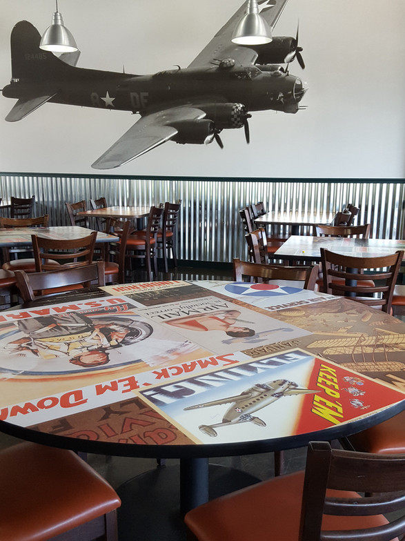 Wing Stop Interior Graphics