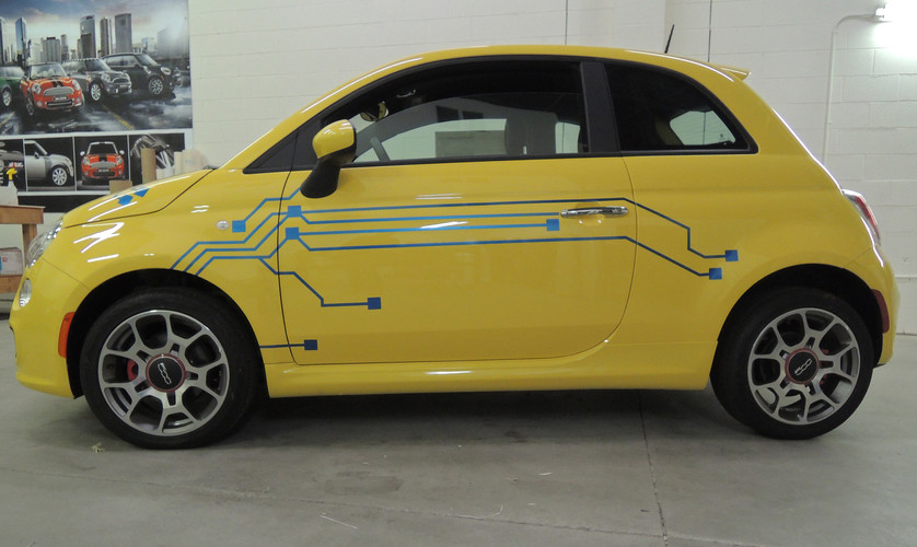 Fiat 500 Electric Graphics