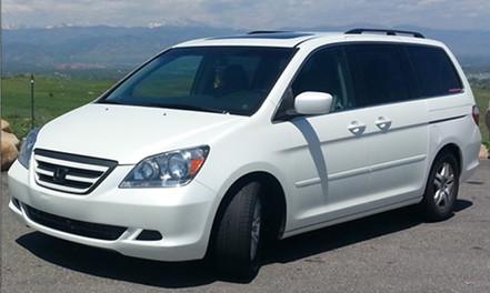 Satin Pearl Honda Odyssey