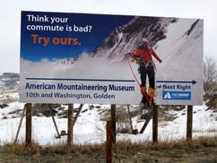 American Mountaineering Museum Sign