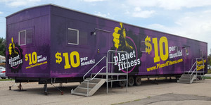 Planet Fitness Temporary Trailer