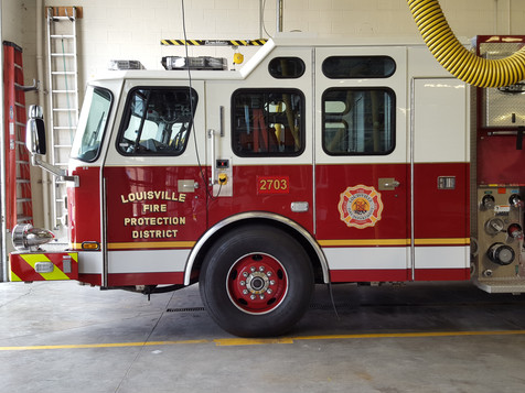 Louisville Fire Truck Number 2703